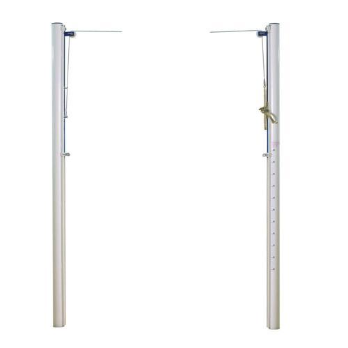 Poteaux de volley standards en acier