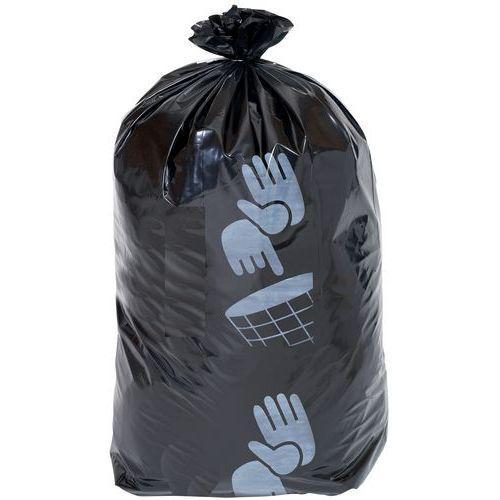 Lot de 50 Sacs-poubelle MANUTAN NOIR 160 L