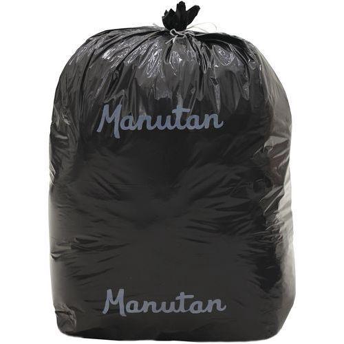 Lot de 500 Sacs-poubelle Manutan 20 microns 30 L coloris noi