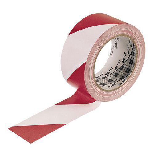 Ruban pour les avertissements rouge-blanc 50mm / 33m 3M