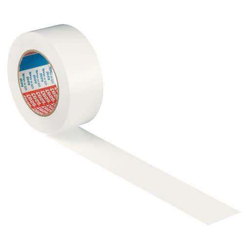 Ruban adhésif PVC de marquage au sol permanent blanc 50mm / 33m tesa