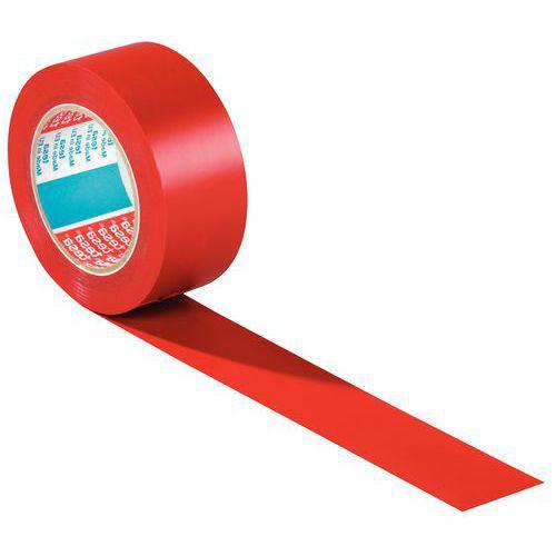 Ruban adhésif PVC de marquage au sol permanent rouge 50mm / 33m tesa