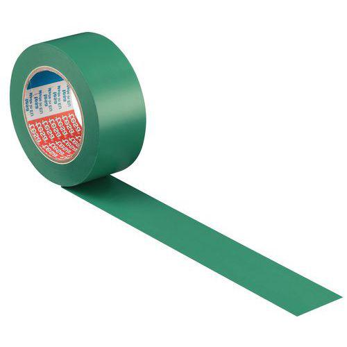 Ruban adhésif PVC de marquage au sol permanent noir 50mm / 33m tesa
