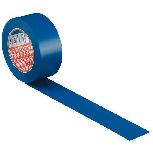 Ruban adhésif PVC de marquage au sol permanent bleu 50mm / 33m tesa