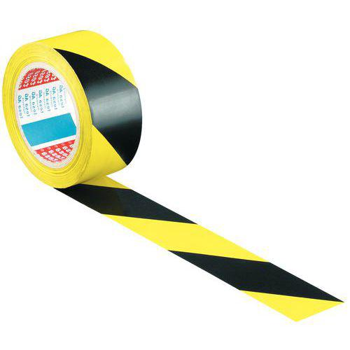 Ruban adhésif PVC de marquage au sol jaune-noir 50mm / 33m 3M