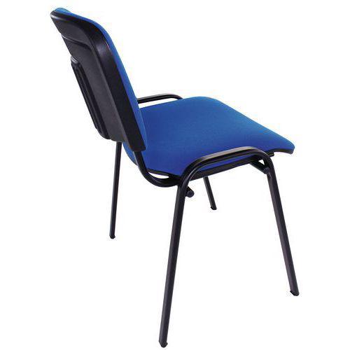 fancy Chaise noire structure Manutan tissu bleu jSGLqUVMzp