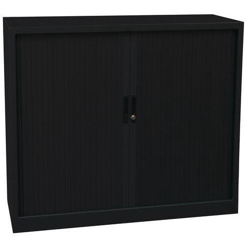 Armoire à rideaux Basse noir 120 x 105 cm Manutan