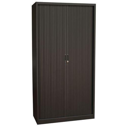 Armoire à rideaux Haute noir 100 x 195 cm Manutan