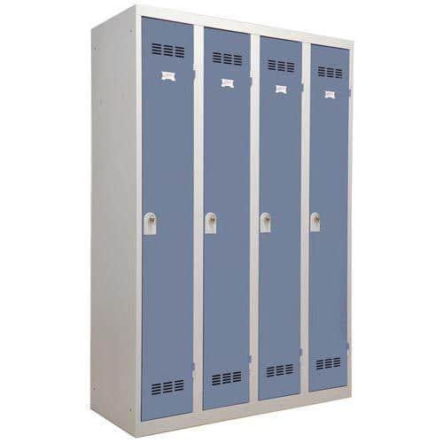 Vestiaire monobloc 4 colonnes Largeur 300 mm