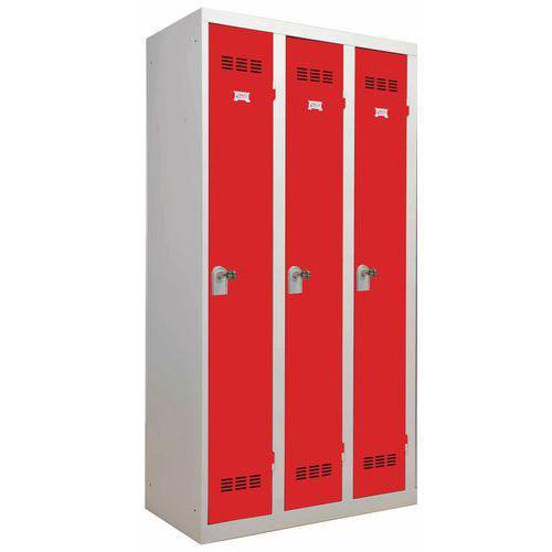 Vestiaire monobloc 3 colonnes Largeur 300 mm