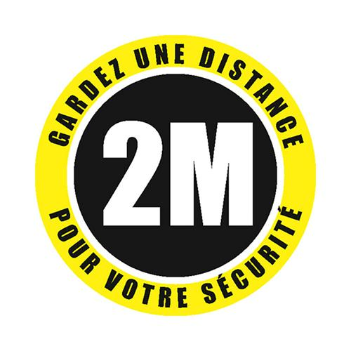Rond de signalisation de distance sociale - extérieurdiamètre 30 cm