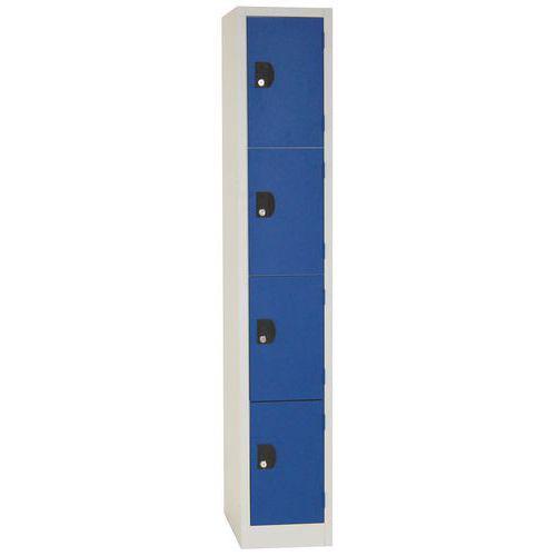 Vestiaire 4 cases Modulo - 1 colonne largeur 300 mm - Sur socle - Manutan