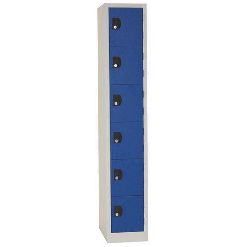 Vestiaire 6 cases Modulo - 1 colonne largeur 300 mm - Sur socle - Manutan