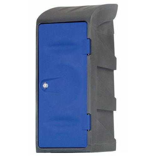 Demi-vestiaire plastique - Sur socle - Avec coiffe - 1 étagère simple