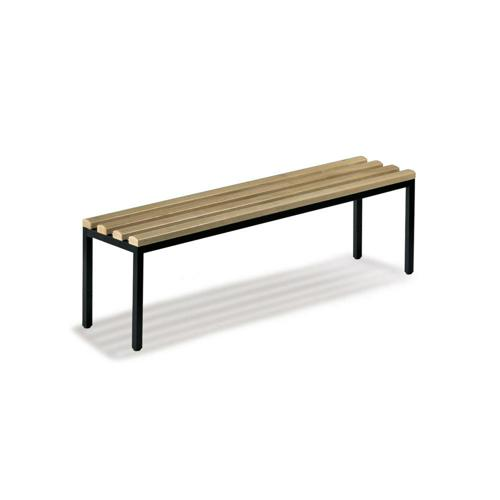 Banc de vestiaire simple assise bois