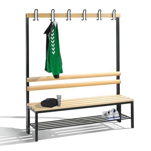 banc de vestiaire simple avec penderie. Black Bedroom Furniture Sets. Home Design Ideas