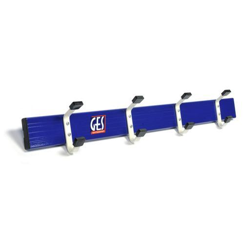 Lisse aluminium avec patères acier longueur GES